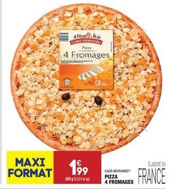 Pizza 4 fromages offre à 1,99€