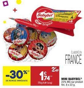 Mini Babybel offre à 1,74€
