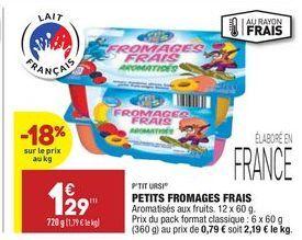 Petits fromages frais offre à 1,29€