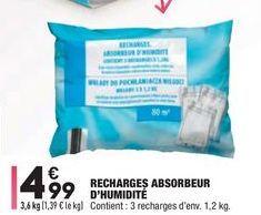 Recharges absorbeur d'humidité offre à 4,99€