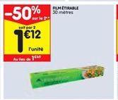 Film transparent offre à 1,49€