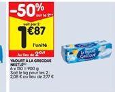 Yaourt a la grecoue nestle offre à 2,49€