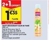 Tamiti deodorant fleur de tiare offre à 2,02€