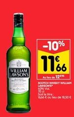 Scotch whisky William Lawson´s offre à 11,66€