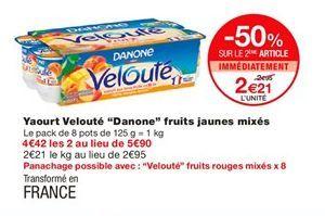 """Yaourt velouté """"Danone"""" fruits jaunes mixés offre à 2,21€"""