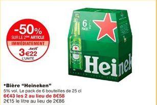 "Bière ""Heineken"" offre à 3,22€"