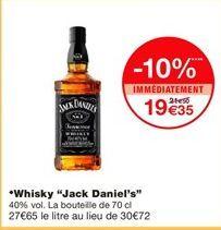 """Whisky """"Jack Daniel's"""" offre à 19,35€"""