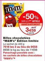 """Billes chocolatées """"M&M's"""" édition limitée offre à 3,59€"""