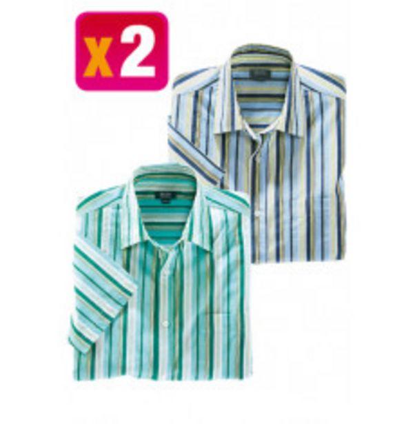 Chemise rayée x 2 offre à 19,6€