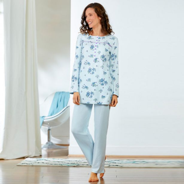 Pyjama femme manches longues offre à 14,99€