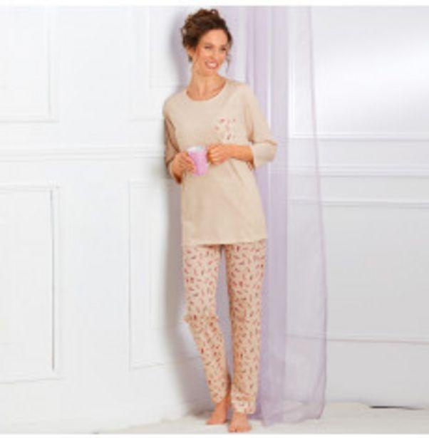 Pyjama manches 3/4 imprimé offre à 21,49€