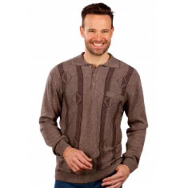 Pull col polo maille jacquard offre à 20,99€