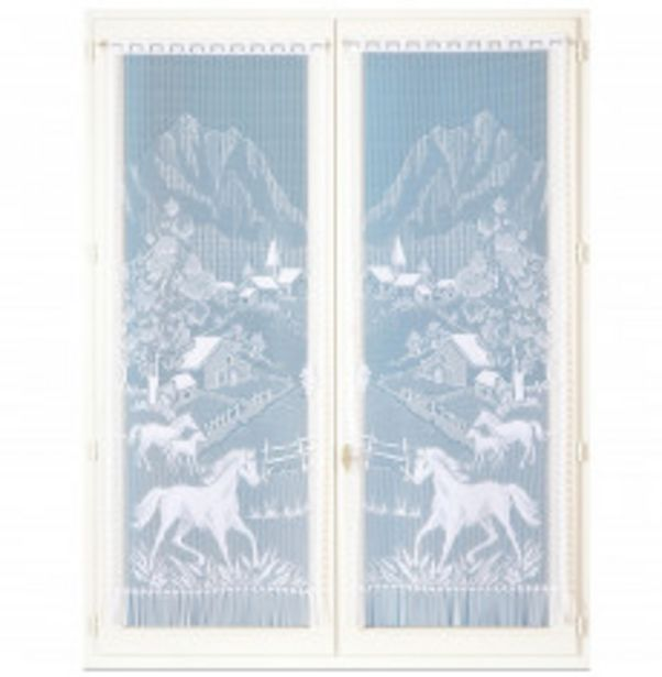 Paire rideaux droits dentelle offre à 8,48€