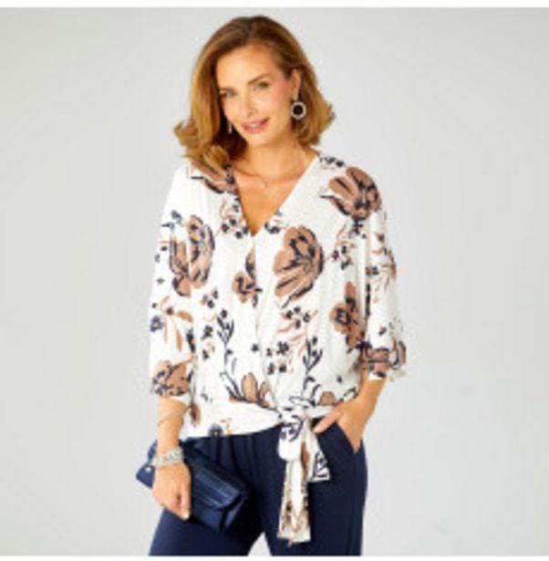 Tee-shirt cache-coeur à fleurs offre à 11,69€