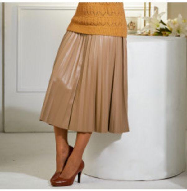 Jupe plissée aspect cuir offre à 24,99€