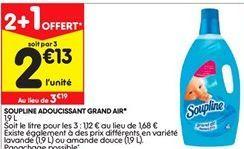 Adoucissant Soupline offre à 2,13€
