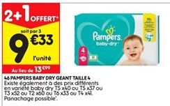Couches Pampers offre à 9,33€