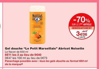 Gel douche Le petit marseillais offre à 3,06€