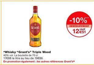 Whisky Grant's offre à 12,51€