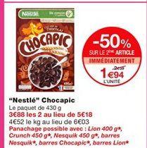 Céréales au chocolat Nestlé offre à 1,94€