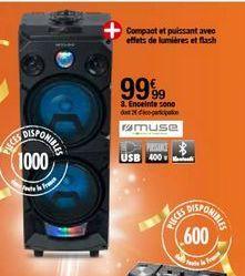 Enceinte Sono offre à 99,99€