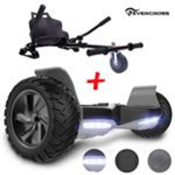 Pack Hoverboard EVERCROSS Hummer 8,5 pouces noir - Bluetooth, 700W - Hoverkart noir offre à 189€