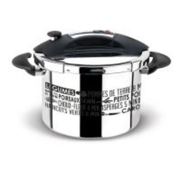 Autocuiseur Sitram Speedo Sérigraphie 8 L Noir et Argent offre à 129,99€