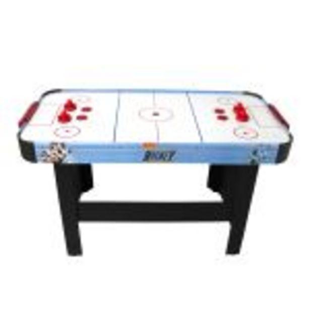 Air Hockey Teenager - Table de Air-Hockey avec système d'air pulsé 6-8W - 142 x 72 x 81 cm - Bleu/Noir offre à 159,9€