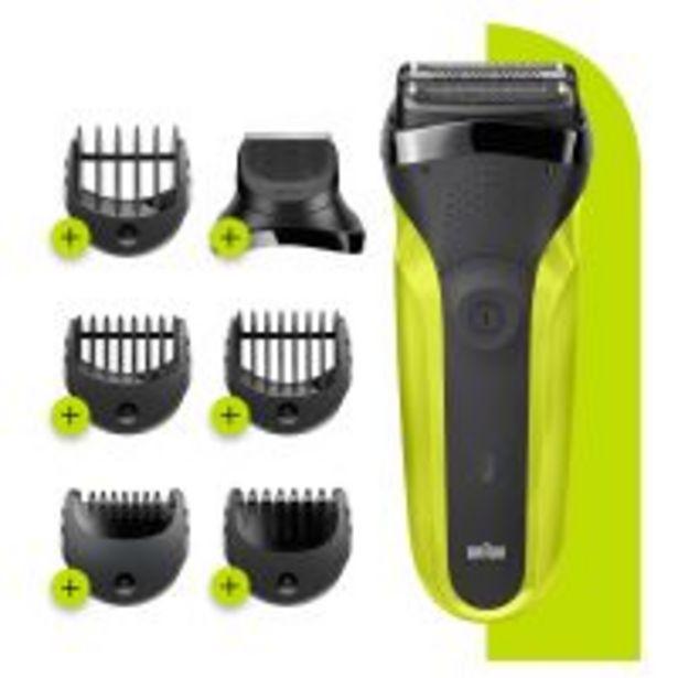 Rasoir électrique Braun Série 3 300BT Noir et Vert offre à 55,99€