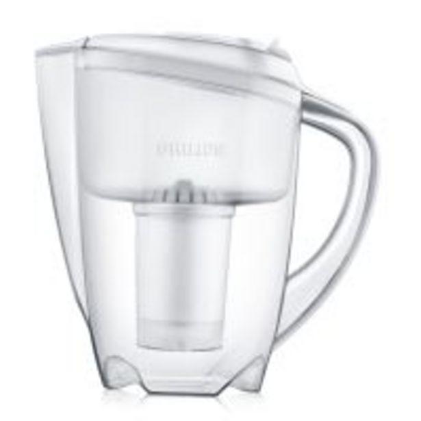 Carafe filtrante Philips 1,5 L fournie avec 1 filtre pour 200 litres d'eau filtrée offre à 6,99€