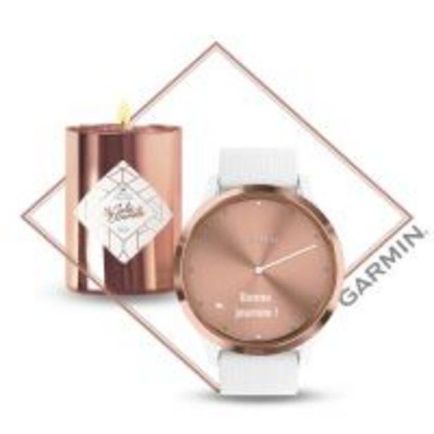Pack Montre connectée Garmin Vivomove HR Or Rose Blanc + Bougie My Jolie Candle offre à 179,99€