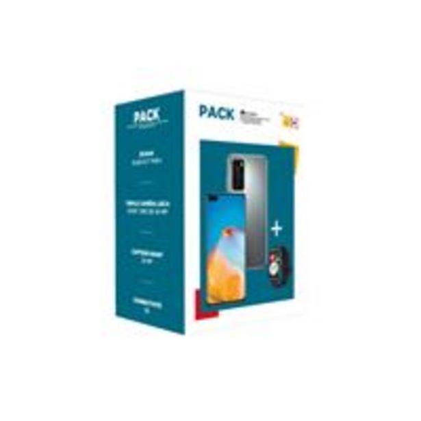 """Pack Smartphone Huawei P40 6.1"""" Double SIM 128 Go 5G Gris + Montre connectée Huawei Watch Fit Noir offre à 499€"""