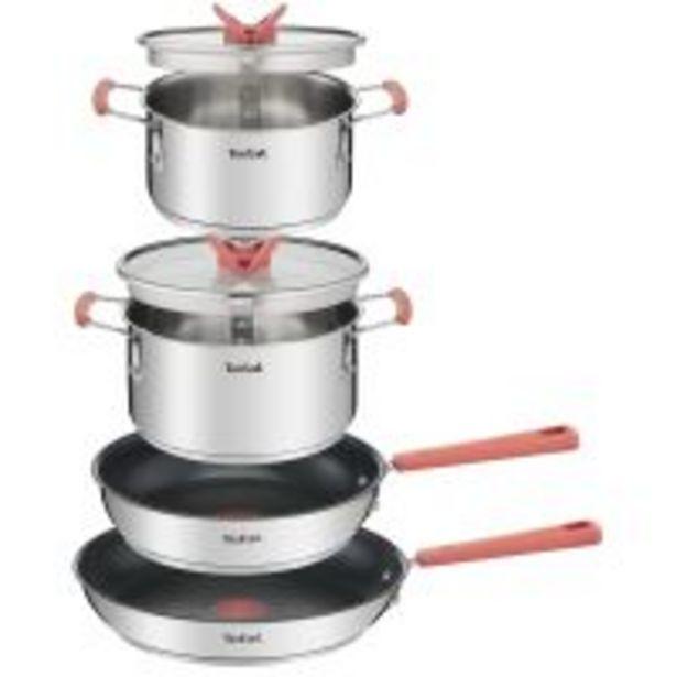 Batterie de cuisine Tefal Optispace 6 pieces G720S604 Argent offre à 69,99€