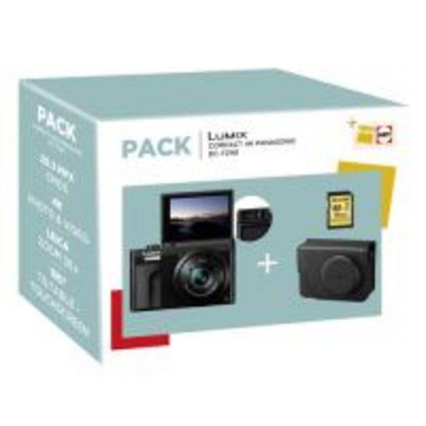 Pack Fnac Appareil photo compact Panasonic Lumix TZ90 Noir + Etui + SD 16 Go offre à 299,99€