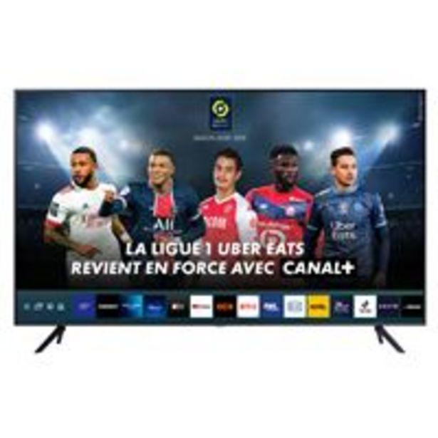 """TV Samsung Crystal 43"""" LED 43AU7105 4K UHD Gris anthracite offre à 449,99€"""