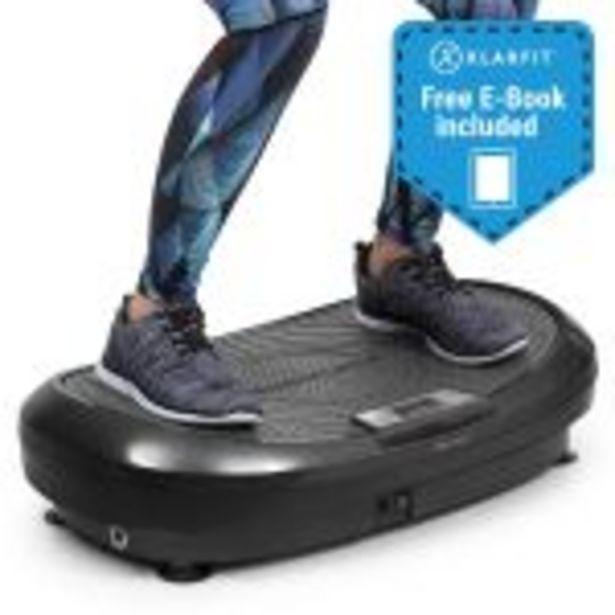 Klarfit VIBE 4DX plateforme vibrante & oscillante cardio fitness - 10 modes & 30 vitesses - 440W - gris offre à 260€