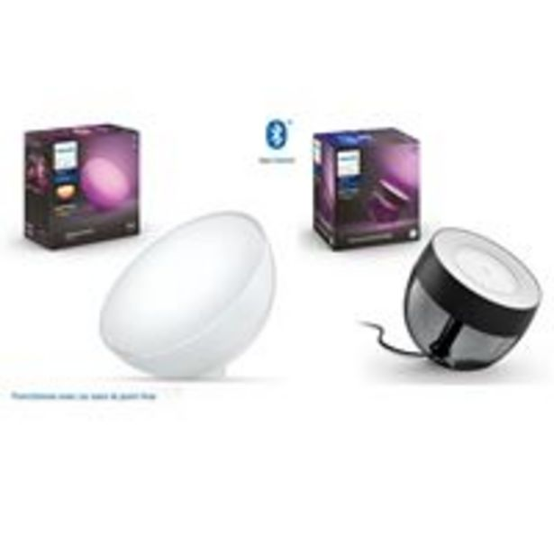 Pack Lampe nomade connectée Philips Hue Go Led + Lampe connectée Philips Hue Iris Noir offre à 139,99€