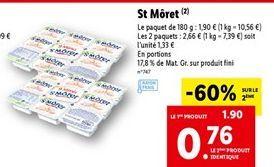 Fromage St Moret offre à 0,76€