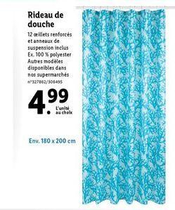 Rideau de bain offre à 4,99€