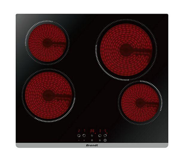 BRANDT Table vitrocéramique BPV6423B offre à 199,99€