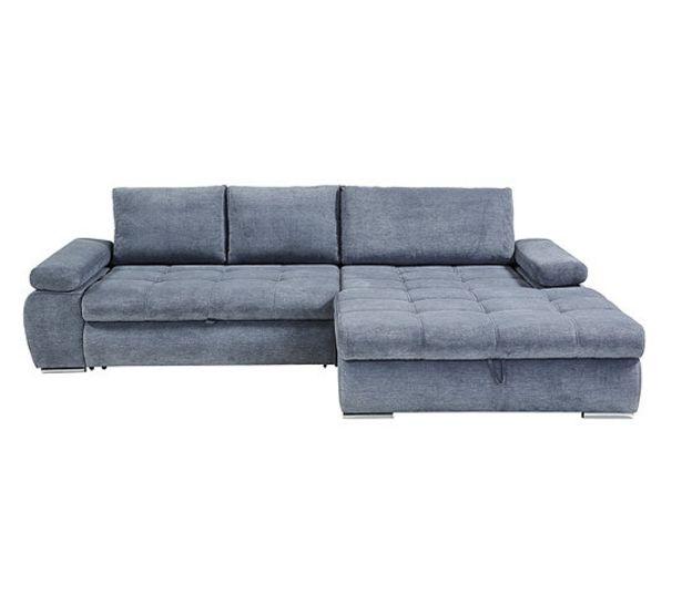 Canapé d'angle convertible méridienne droite ARGOS tissu gris offre à 899,99€