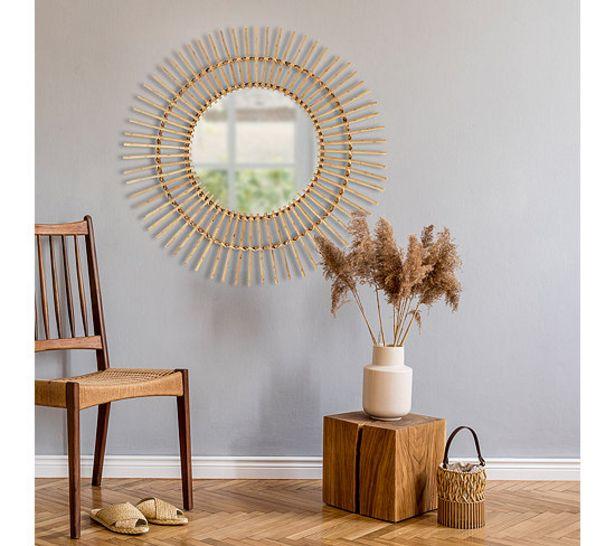 Miroir D.90 cm TILIO Naturel offre à 29,99€