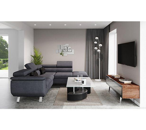 MODERN LIVING Canapé d'angle convertible méridienne droite PHOENIX tissu Alfa gris offre à 1129€