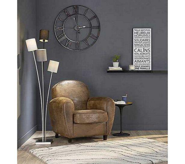 TIME Horloge D.76 cm STATION Noir offre à 23,99€