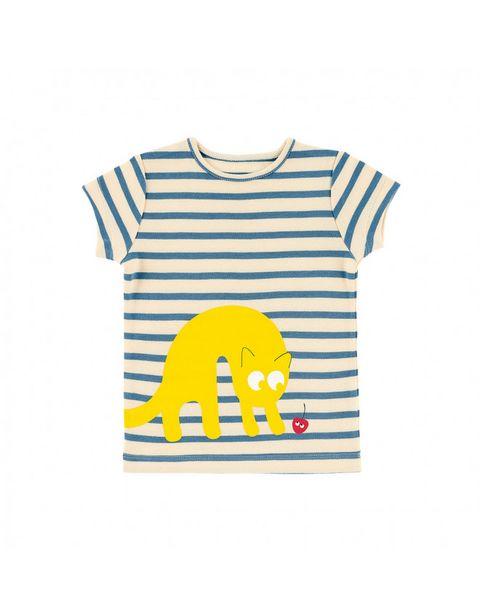T-shirt rayé chat soleil offre à 24,9€