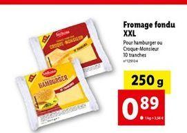 Fromage fondu offre à 0,89€