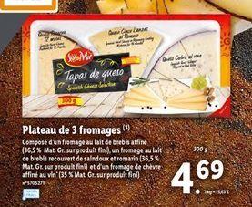 Plateau de fromages offre à 4,69€
