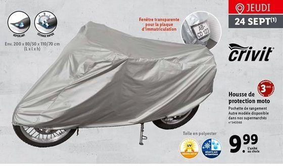 Housse pour les motos offre à 9,99€