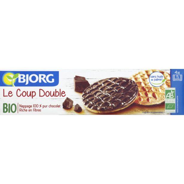 Biscuits nappés chocolat noir bio offre à 2,8€