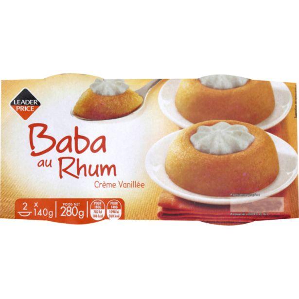 Baba au rhum offre à 1,65€
